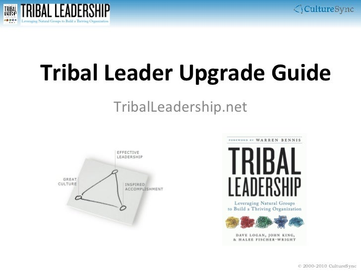 Tribal Leader Upgrade Guide TribalLeadership.net