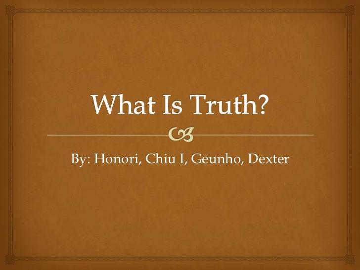 By: Honori, Chiu I, Geunho, Dexter