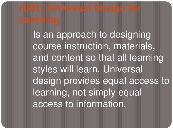 What Is Universal Design For Learning Udl