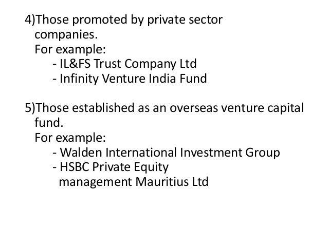 venture capital in india In the indian context, venture capital consists of investing in equity, quasi-equity, or conditional loans in order to promote unlisted, high-risk.