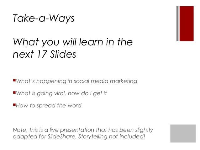What is going Viral on Social Media? Slide 2