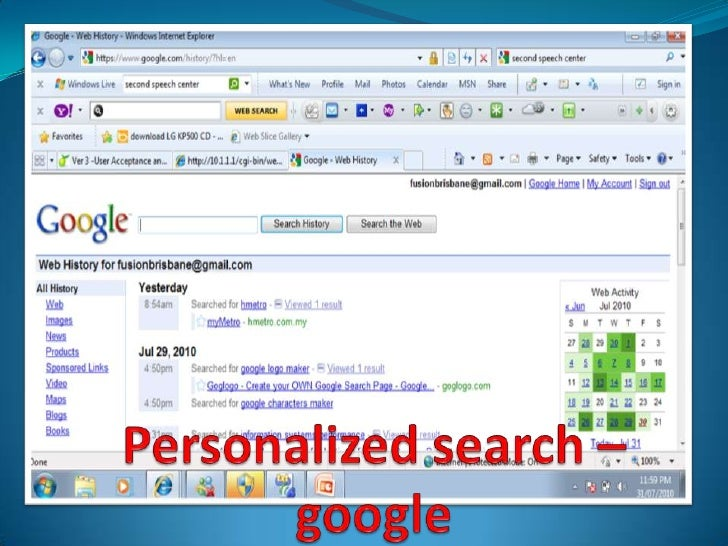 Personalizedsearch–google<br />