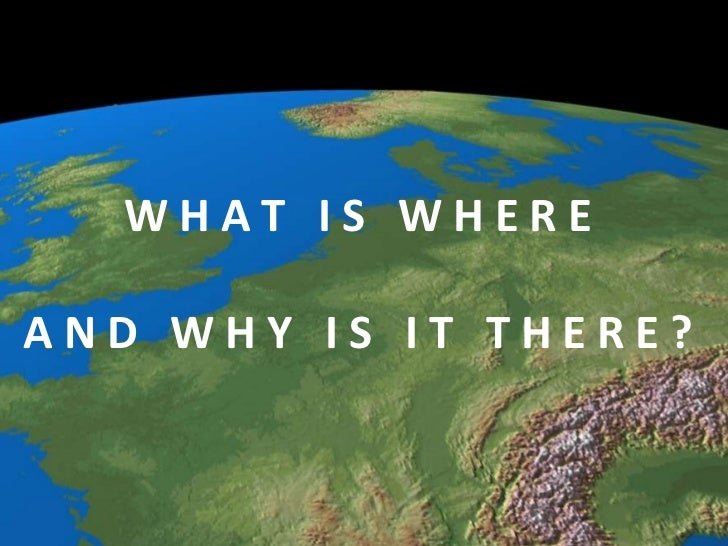 WHAT IS WHEREAND WHY IS IT THERE?