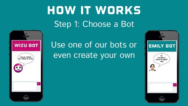 Step 1: Choose a Bot How it works Use one of our bots or even create your own