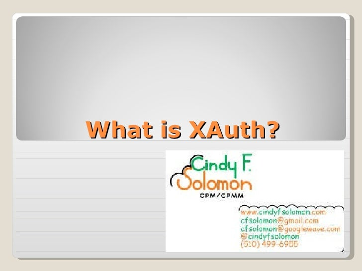 What is XAuth?