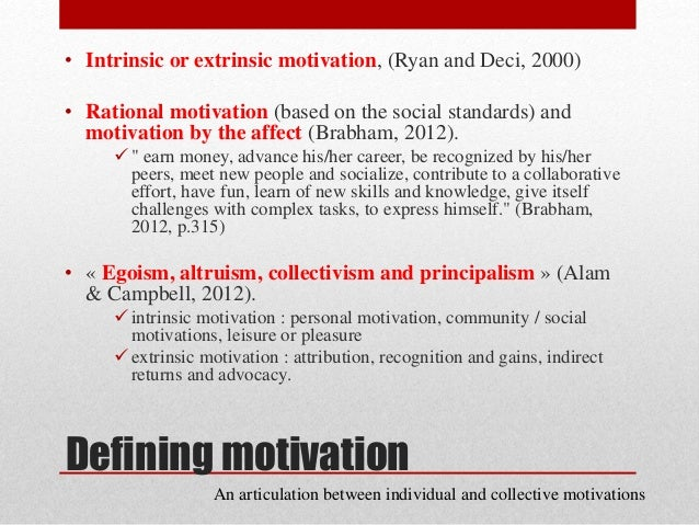 an article critique of recognizing and nurturing intrinsic motivation Foreign language to what creates motivation and how teachers can nurture it   extrinsic motivation, in addition to richard clement's model of linguistic self-   instead of identifying and having attitudes towards the l2 community through   structural analysis of the factors affecting second language achievement  journal.