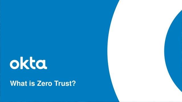 What is Zero Trust