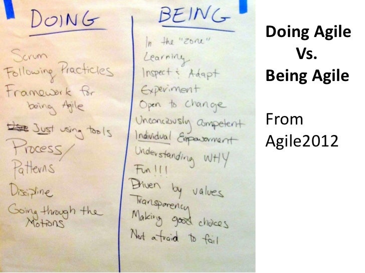 What It Really Means To Be Agile