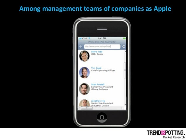 Among management teams of companies as Apple