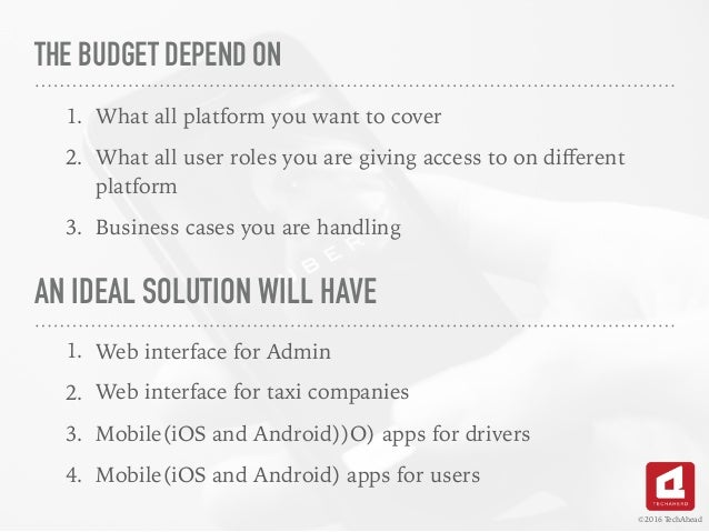 how to create an app like uber