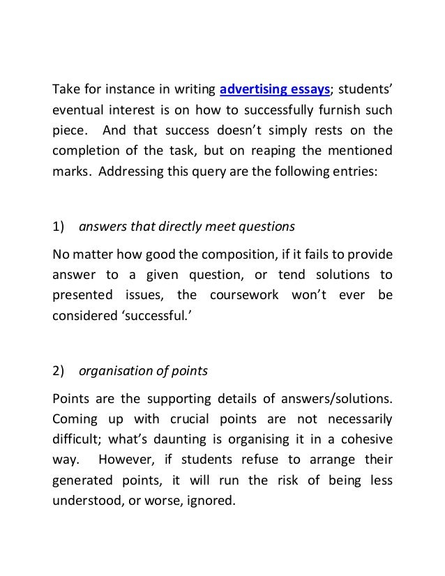 advertisement essay example paper thoughts on poems facturer  advertisement analysis essay outline example