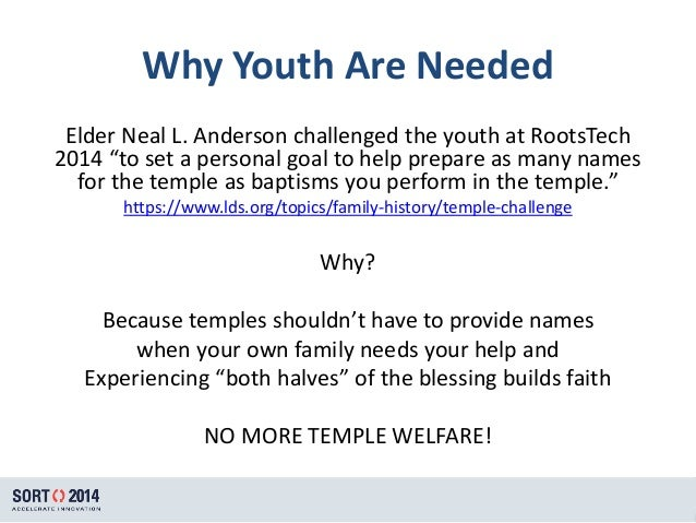 What I Wish Everyone in the LDS Church Knew About Family History SlideShare        Why Youth