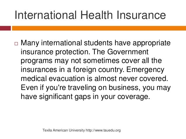 International Health Insurance While Traveling