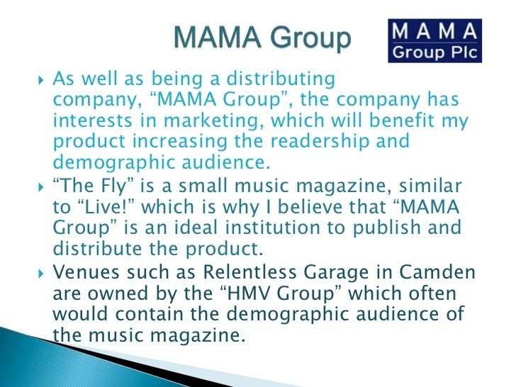 """MAMA Group<br />As well as being a distributing company, """"MAMA Group"""", the company has interests in marketing, which will ..."""