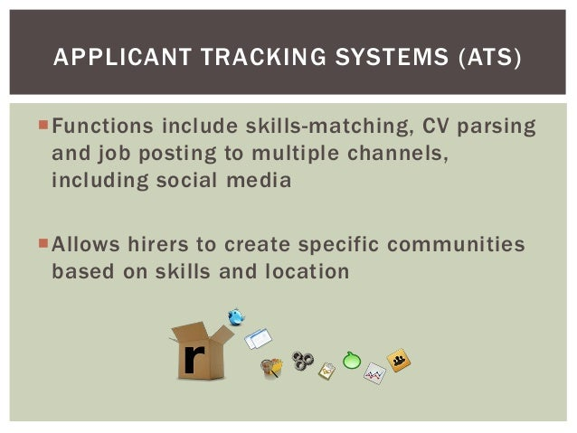 what kind of tools does human resources use With doe applicant tracking system