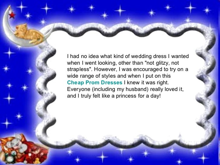 """I had no idea what kind of wedding dress I wanted when I went looking, other than """"not glitzy, not strapless"""". H..."""