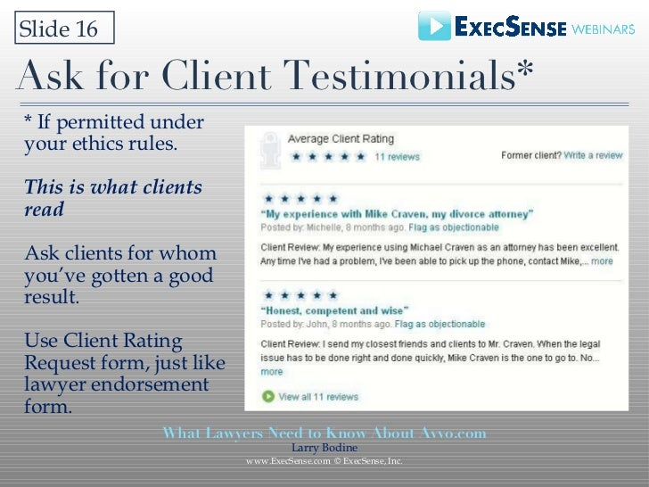 What Lawyers Need To Know About AvvoCom Execsense