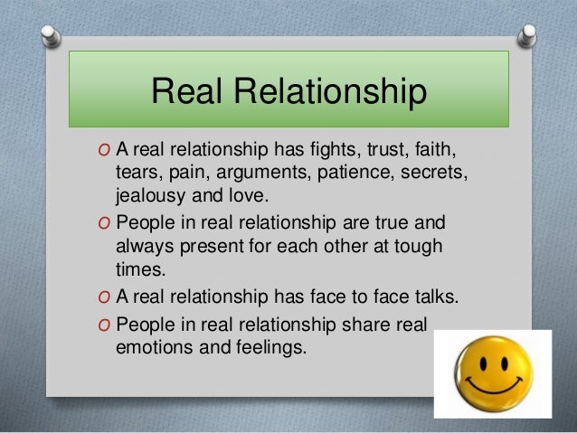 Relationship what is real a 24 Signs