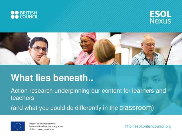 What lies beneath..Action research underpinning our content for learners andteachers(and what you could do differently in ...