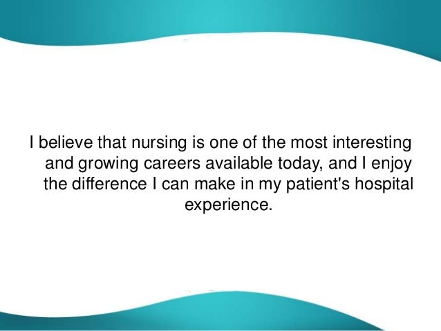 essay on why choose nursing as a career Hello all below i have pasted my first draft for the essay question: why did you choose nursing as a career please give me constructive criticism or any advice.