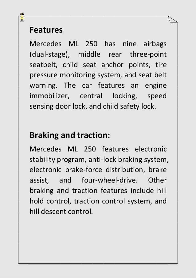 What make Mercedes ML 250 a great car?
