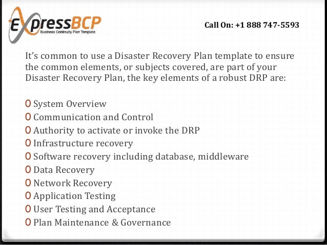What Makes A Good Disaster Recovery Plan Template - Sample it disaster recovery plan template