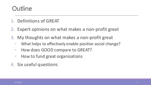 What makes a good organisation great Slide 2