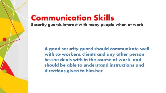 security guard skills likewise 7 communication skills security