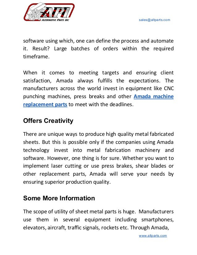 What makes amada the best machinery for metal fabrication