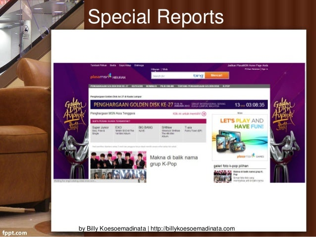 Special Reportsby Billy Koesoemadinata | http://billykoesoemadinata.com