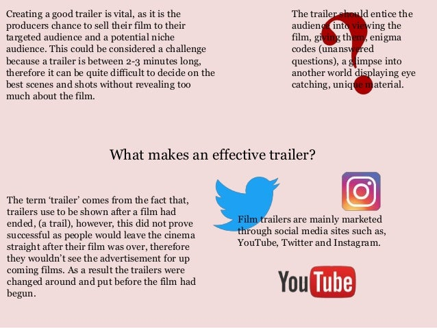 What Makes An Effective Trailer Creating A Good Trailer Is Vital