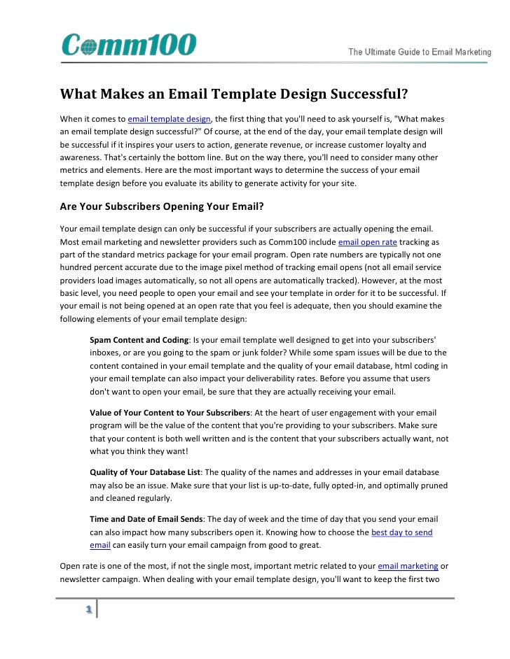 What Makes an Email Template Design Successful?When it comes to email template design, the first thing that youll need to ...
