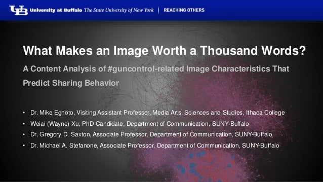 What Makes an Image Worth a Thousand Words?  A Content Analysis of #guncontrol-related Image Characteristics That  Predict...