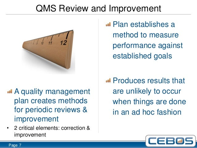 what makes a quality management plan so important