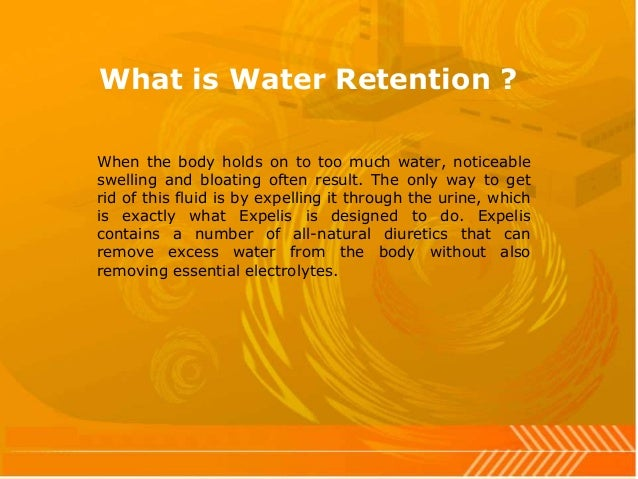 how to get rid of water retention in body