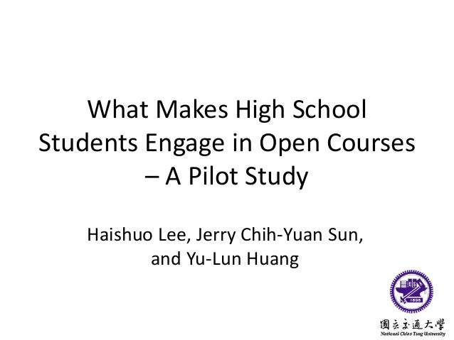 What Makes High School Students Engage in Open Courses – A Pilot Study