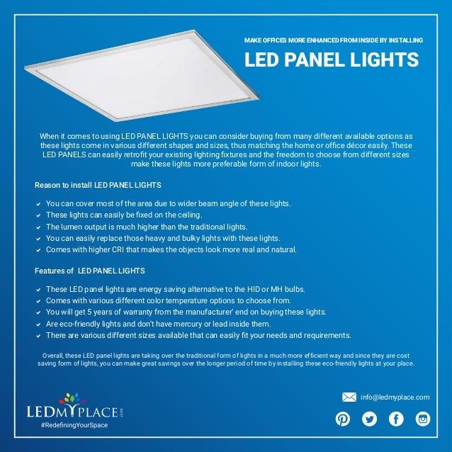 What Makes LED Panel Lights Best For Office Lighting?