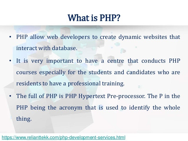 what is php programming