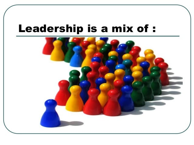 Leadership is a mix of :