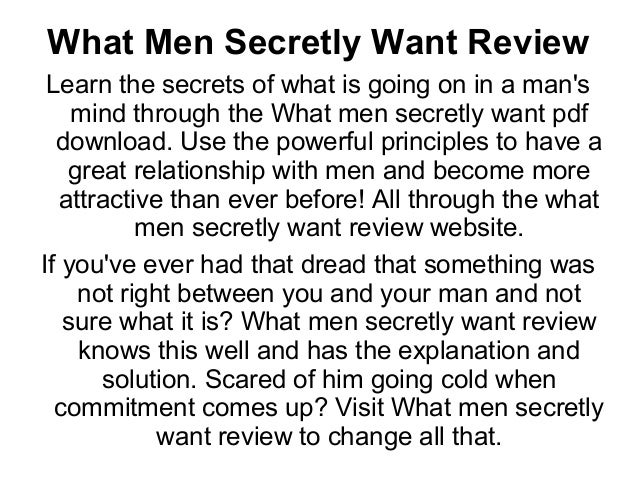 Men With What Want In Woman Relationship A A