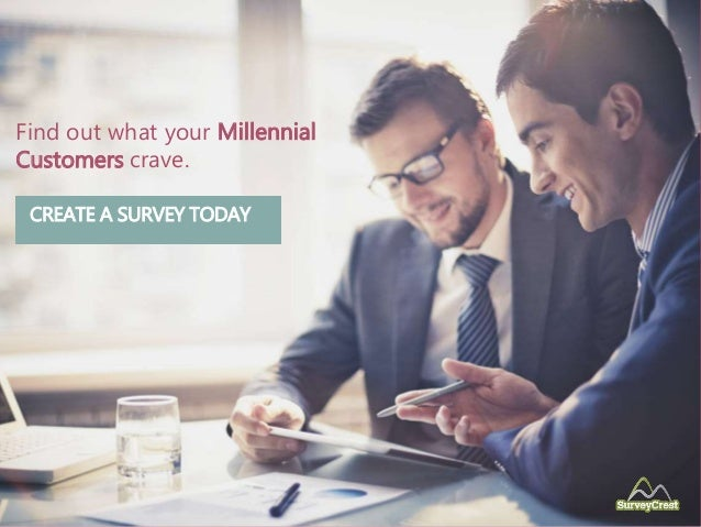 Find out what your Millennial Customers crave. CREATE A SURVEY TODAY