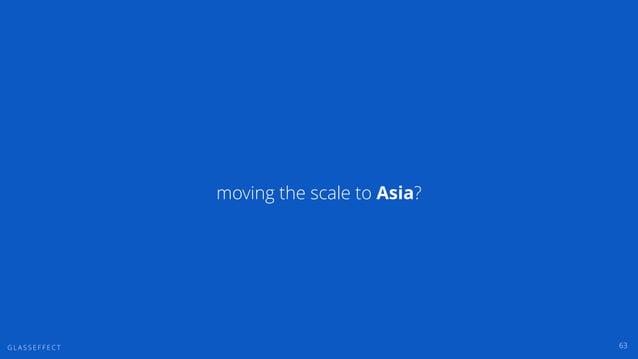 G L A S S E F F E C T moving the scale to Asia? 63