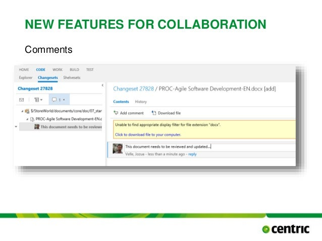 NEW FEATURES FOR COLLABORATION Comments TITLE PRESENTATION December 17, 2014
