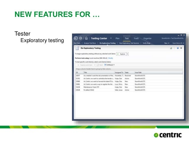 NEW FEATURES FOR … Tester Exploratory testing TITLE PRESENTATION December 17, 2014