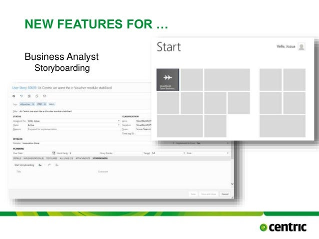 NEW FEATURES FOR … Business Analyst Storyboarding TITLE PRESENTATION December 17, 2014