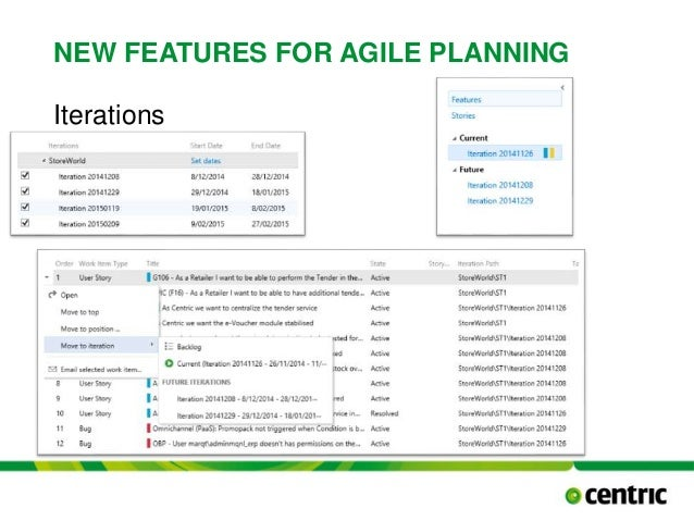 NEW FEATURES FOR AGILE PLANNING Iterations TITLE PRESENTATION December 17, 2014