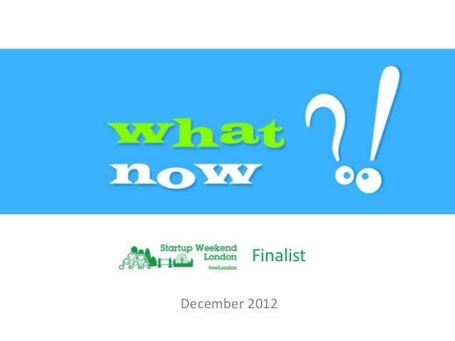 FinalistDecember 2012