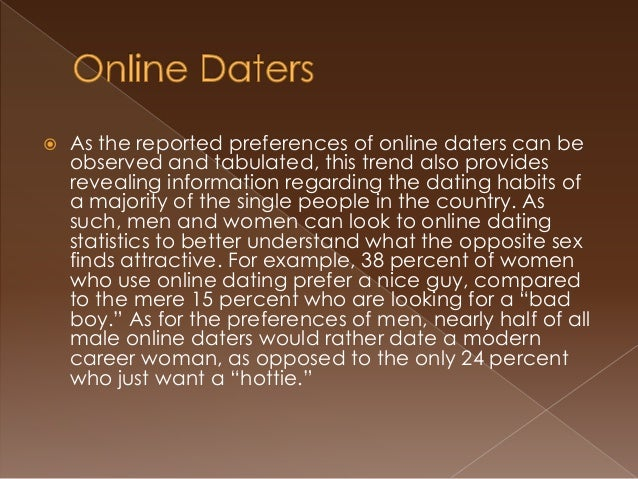 Modern online dating