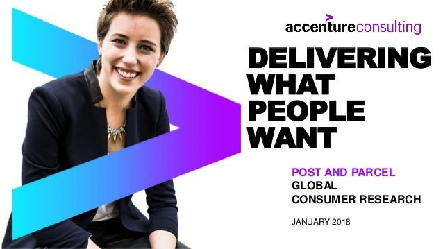 DELIVERING WHAT PEOPLE WANT POST AND PARCEL GLOBAL CONSUMER RESEARCH JANUARY 2018