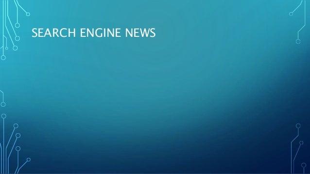 SEARCH ENGINE NEWS